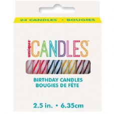 "24 2.5"" Multi Colour Birthday Candles"